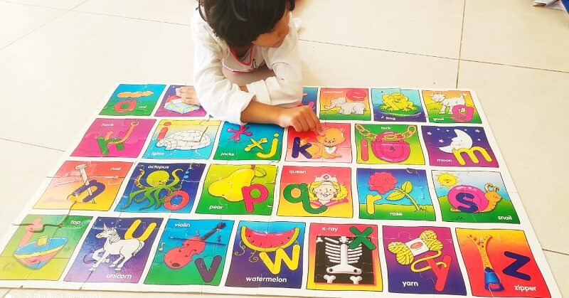 Learning With Alphabets puzzle