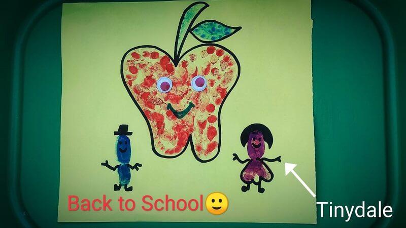 Back to school apple craft