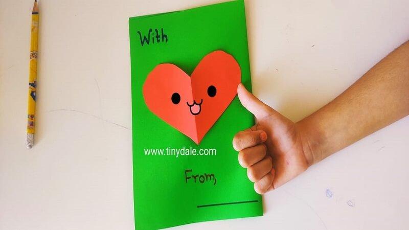 Heart card back