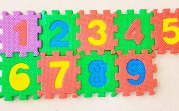 Number Foam Mat