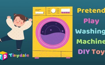 Pretend Play Washing Machine DIY Toy