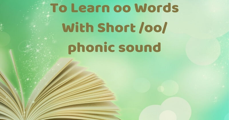 Learn oo words with short oo sound