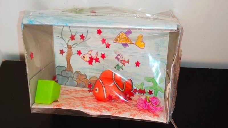Aquarium made by kids