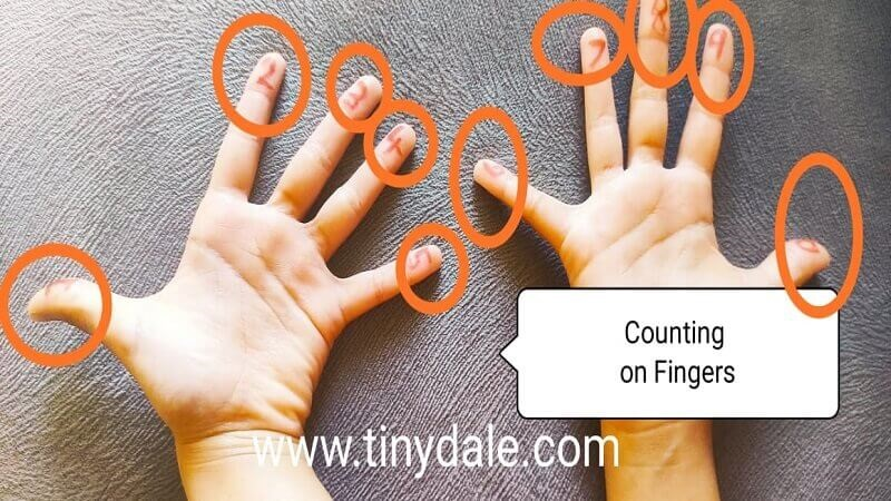 counting on fingers