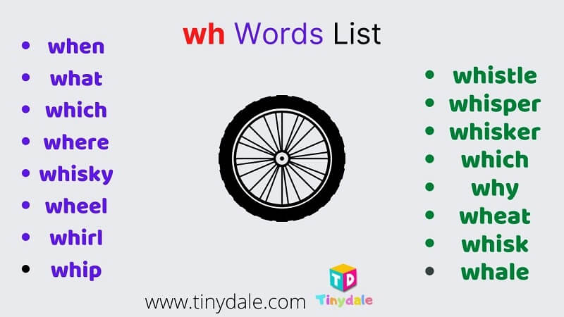 wh words list